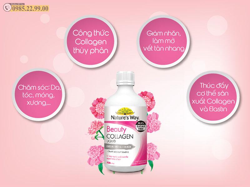 Công dụng Nước Collagen Nature's Way Beauty Collagen Liquid 500ml