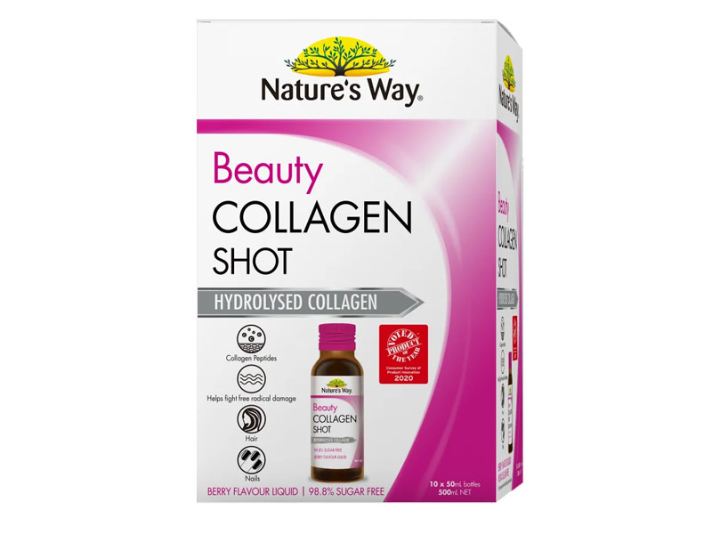 Sản phẩm Collagen dạng nước Nature's Way Beauty Collagen Shot 50ml x 10 ống