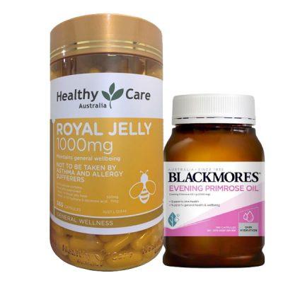 Sữa ong chúa royal relly và tinh chất dầu hoa anh thảo blackmores
