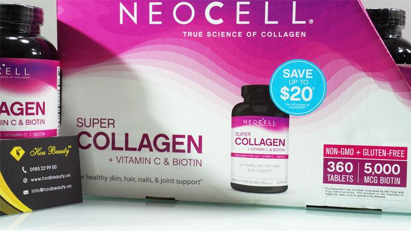 Địa chỉ mua sản phẩm Super Collagen C+ With Biotin 360V Neocell chính hãng