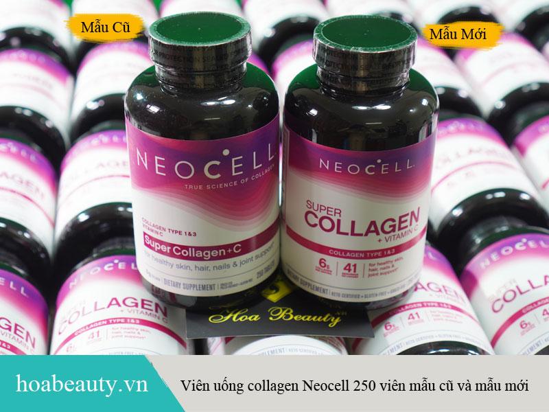 Viên uống collagen neocell 250 viên mẫu cũ và mẫu mới