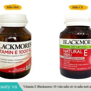 Mẫu cũ và mẫu mới vitamin E blackmores Úc hàng chính hãng