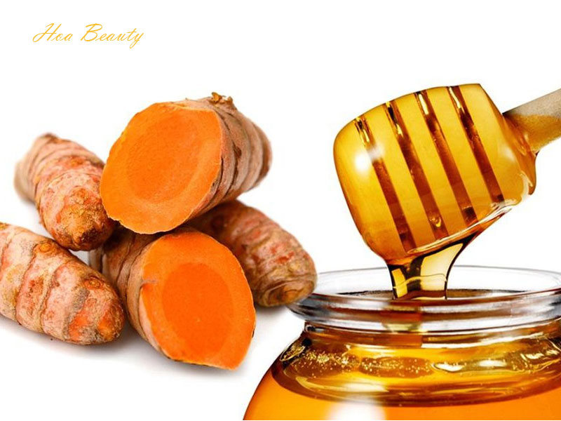 Cách trị sẹo mụn bằng nghệ tươi và mật ong