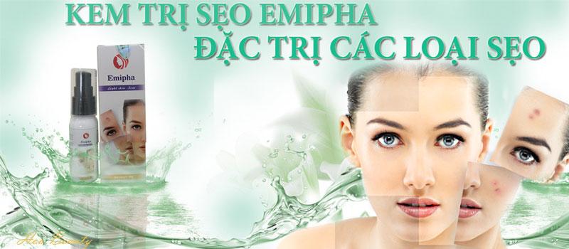 Kem trị sẹo Emipha được đánh giá cao về công dụng trị sẹo