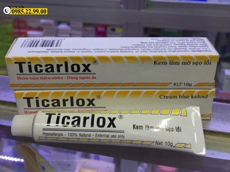 Kem trị sẹo Ticarlox được sản phẩm tại Việt Nam và được đánh giá cao