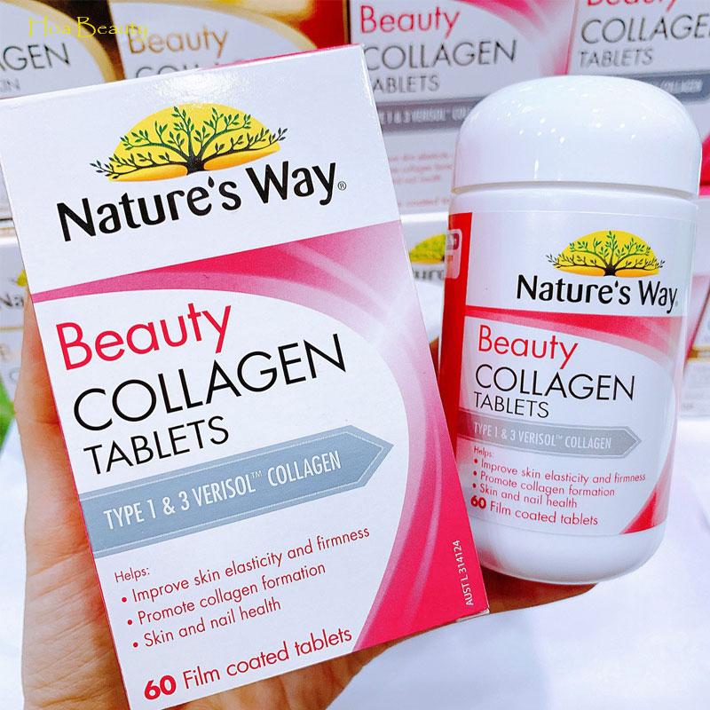Beauty Collagen Tablets Natures Way 60 viên