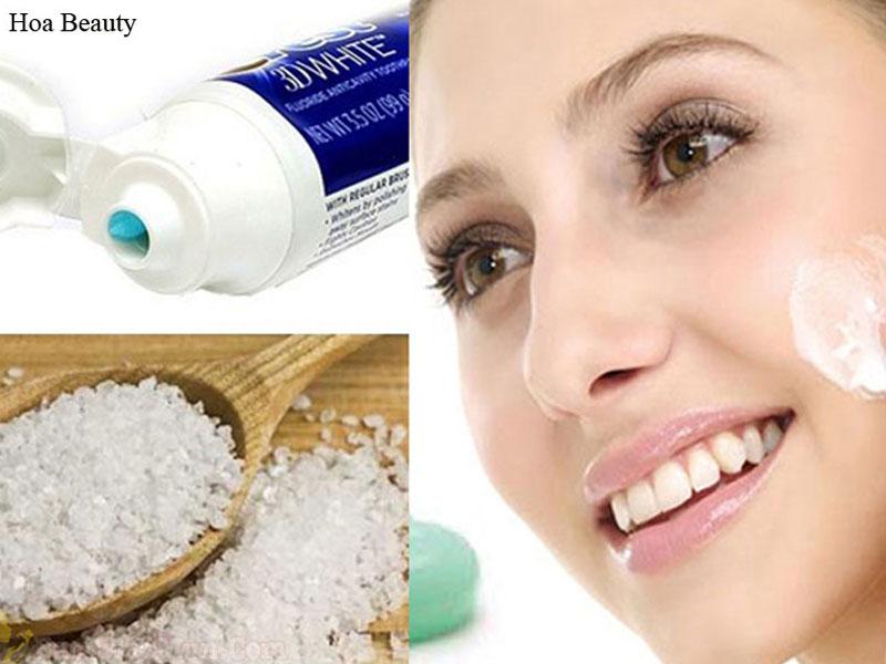 Kem đánh răng kết hợp với muối sẽ tạo nên công thức làm trắng da hoàn hảo