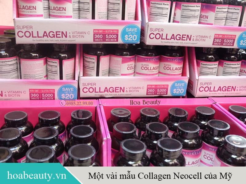 Review một vài mẫu collagen Neocell của Mỹ