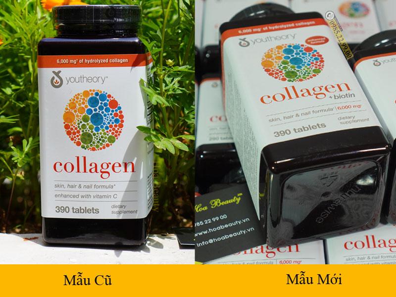 Collagen Youtheory mẫu mới