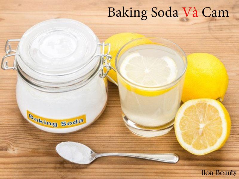 Cách làm sáng da bằng baking soda và cam