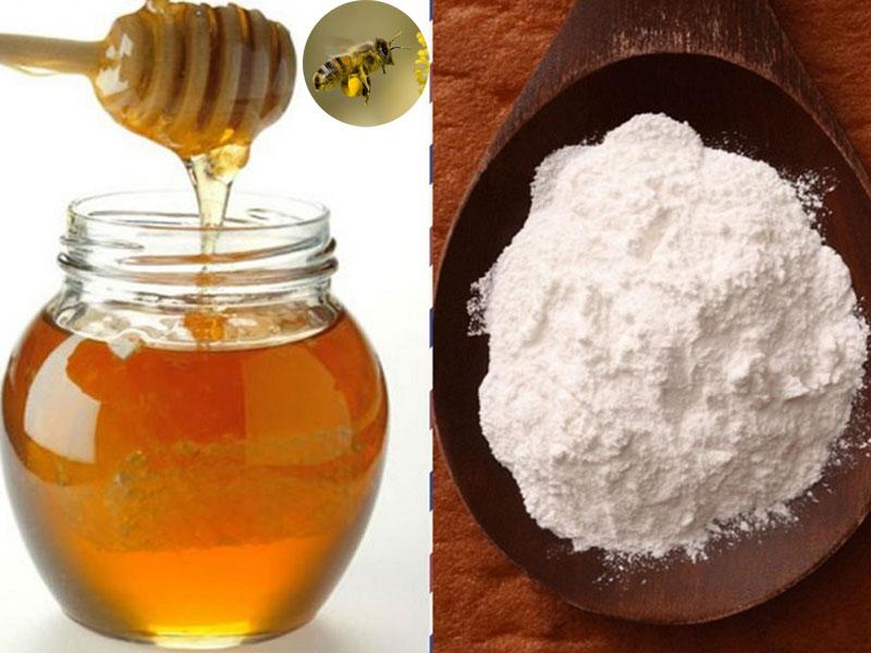 Làm sáng da với baking soda và mật ong