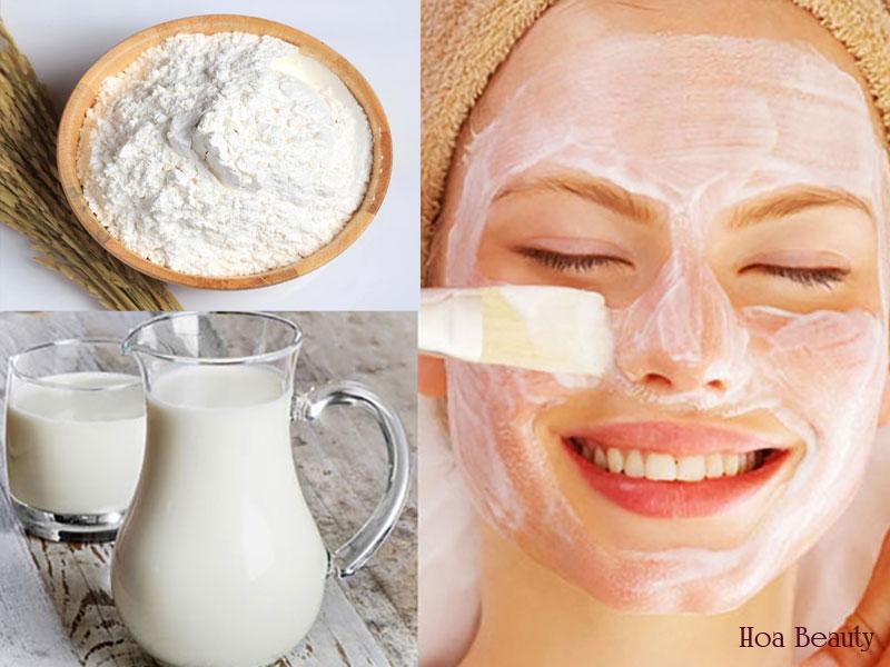Cách làm trắng da mặt tự nhiên với bột gạo và sữa