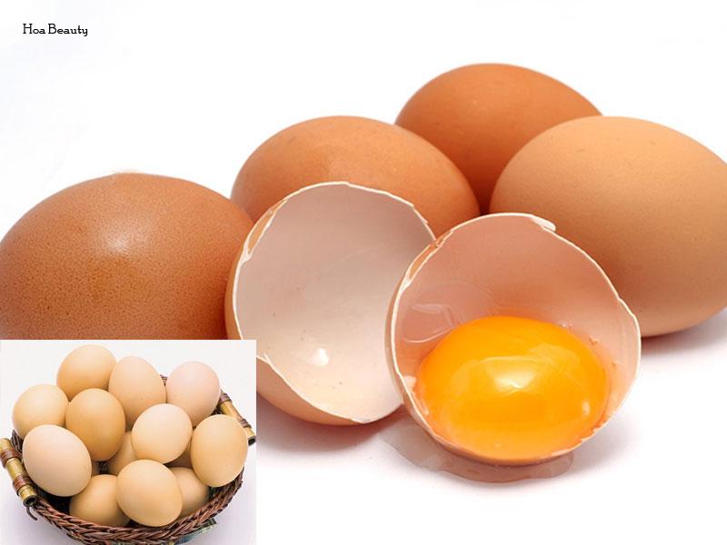 Cách làm trắng da bằng trứng gà ta