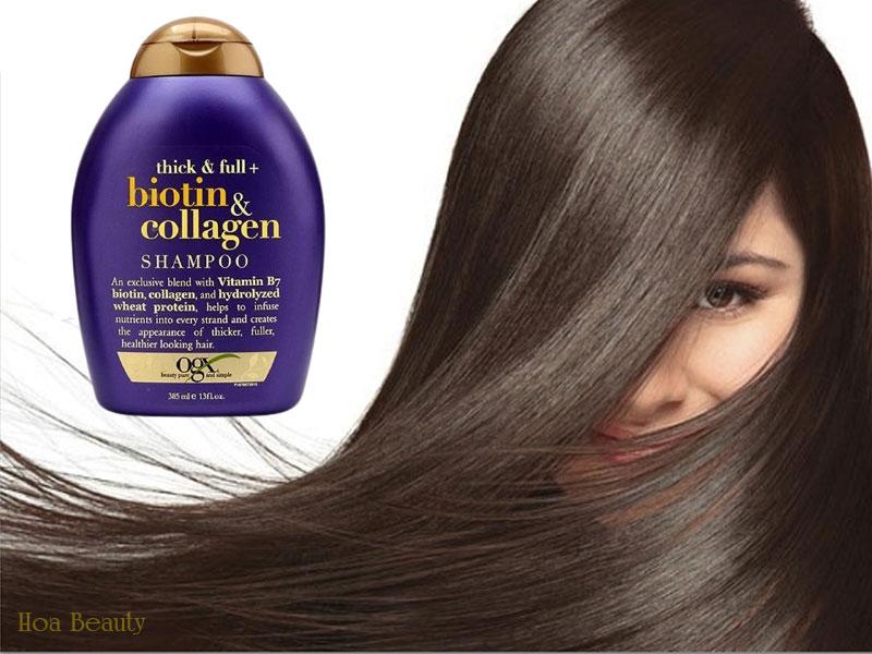 Dầu gội Biotin Collagen chứa những thành phần an toàn và lành tính cho da