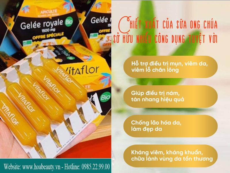 Sữa ong chúa Vitaflor tăng cường sức khỏe, cải thiện làn da và mái tóc