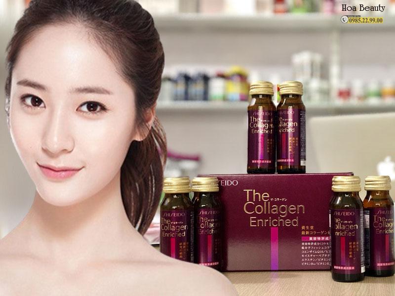 The Collagen Shiseido Enriched chứa hàm lượng collagen từ cá biển lên đến 1000mg