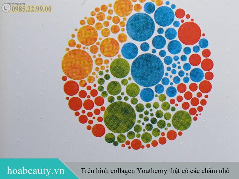Phân biệt collagen Youtheory thật và giả qua những chấm nhỏ trên bao bì