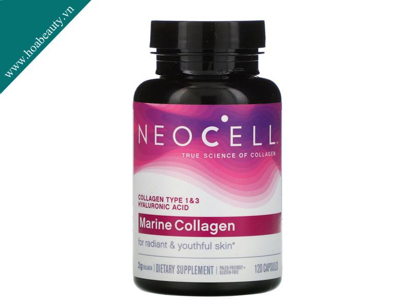 Marine Collagen Neocell 2000mg chứa collagen có nguồn gốc từ da và vi cá mập tươi 100%