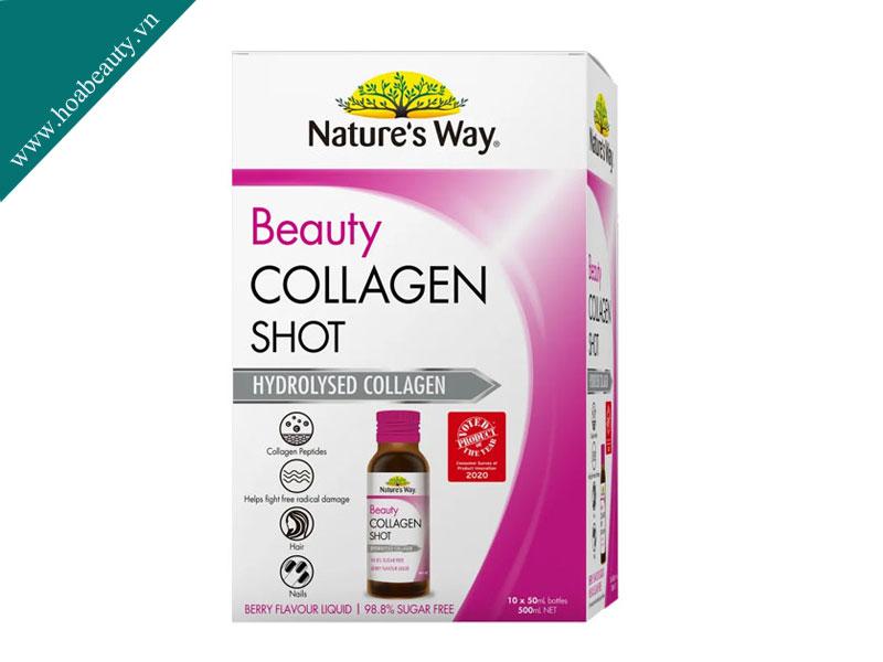 Nature's Way Beauty Collagen Shot dạng nước dễ hấp thu, nhanh hiệu quả