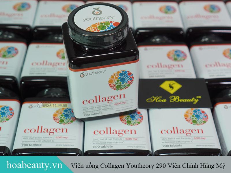 Collagen Youtheory 290 viên của Mỹ cung cấp collagen type 1, 2 và 3