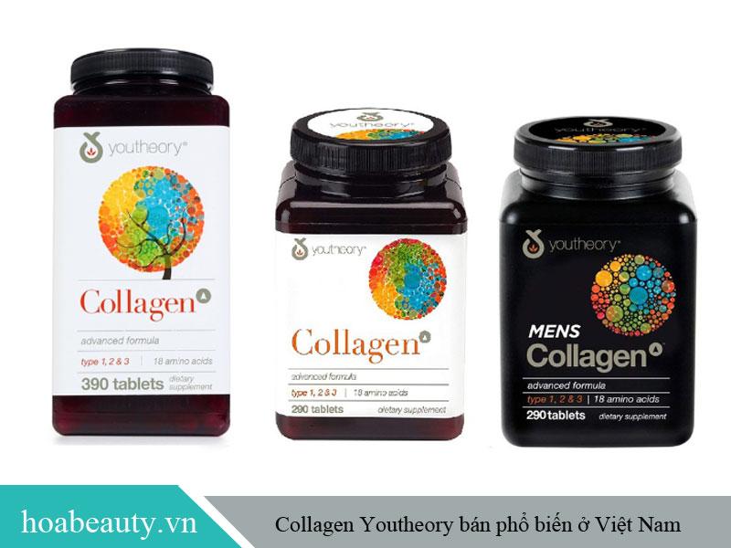 Collagen Youtheory được chia thành nhiều dòng sản phẩm phù hợp với các đối tượng sử dụng khác nhau