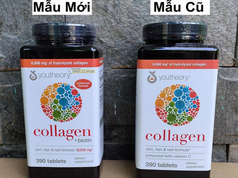 Những thay đổi về bao bì của Collagen Youtheory mẫu mới so với mẫu cũ