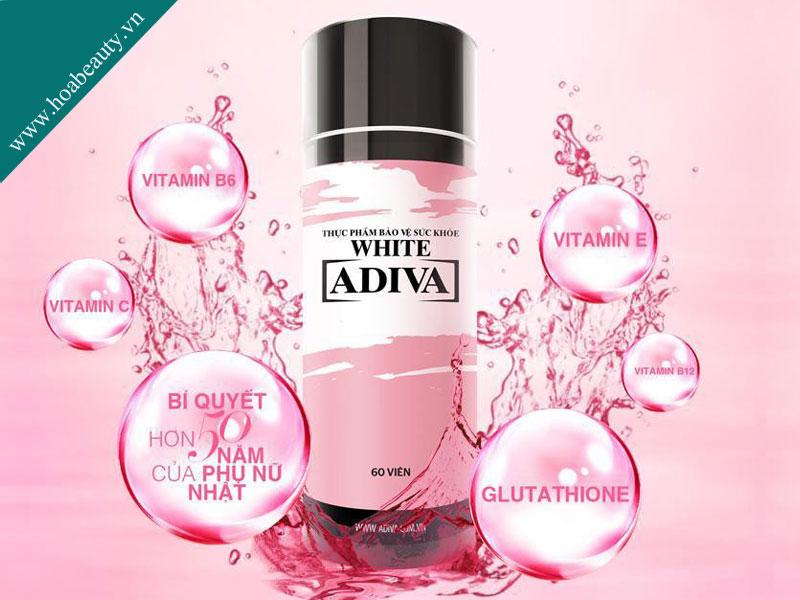 Viên uống trắng da Adiva White ứng dụng công nghệ và nguyên liệu nhập khẩu 100% từ Nhật