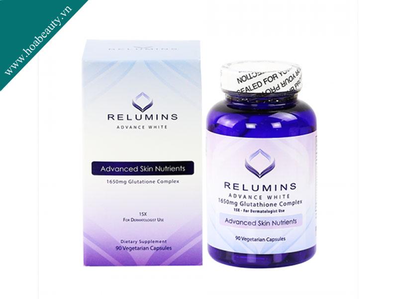Viên Uống Trắng Da Glutathione Relumins Advance White mới nhất