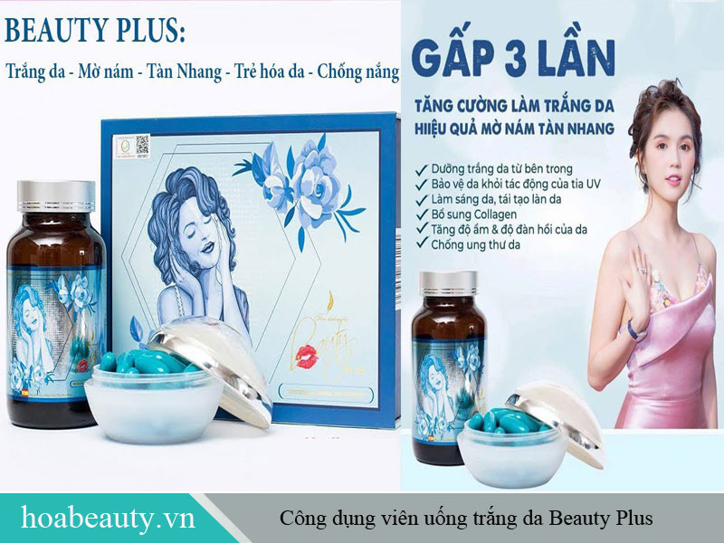 Viên uống trắng da Beauty Plus được cấp phép bởi Bộ Y tế