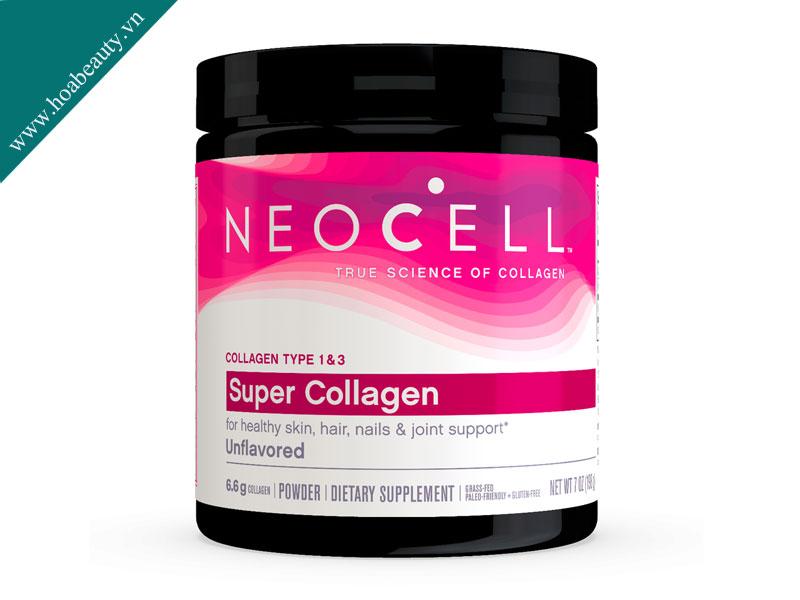 Collagen Neocell dạng bột chứa hàm lượng collagen lớn, được kiểm định chất lượng nghiêm ngặt