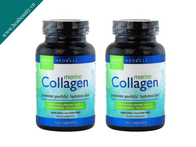 Neocell Marine Collagen 120 viên chứa collagen được chiết xuất từ da và vi của cá mập