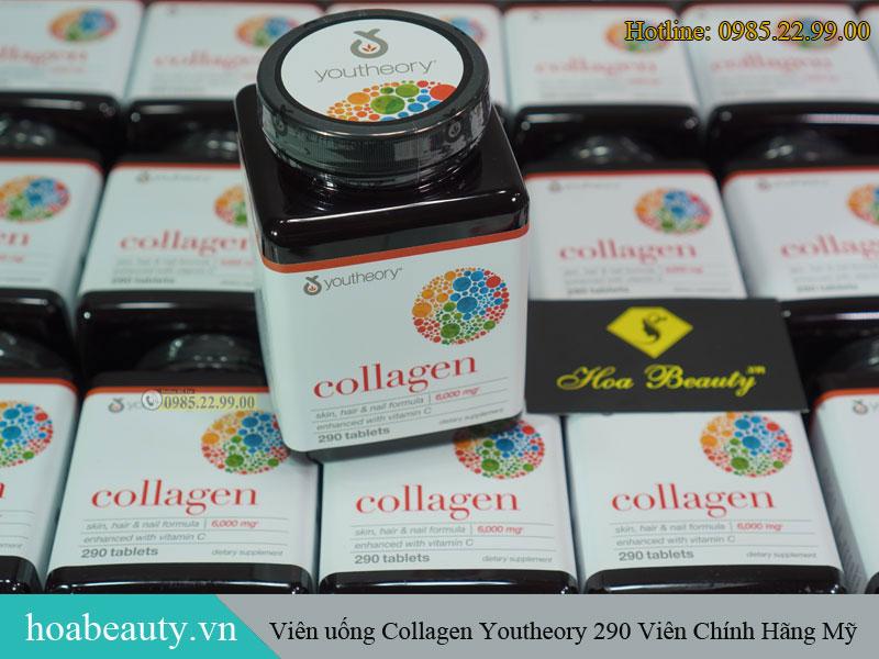 Collagen Youtheory chứa collagen type 1,2 và 3 cho hiệu quả cải thiện da, tóc, móng, xương khớp hiệu quả