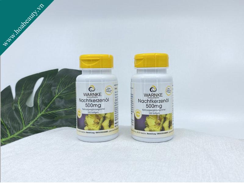 Tinh dầu hoa anh thảo Nachtkerzenol thuộc thương hiệu Warnker chứa hàm lượng hoa anh thảo cao lên đến 1000mg