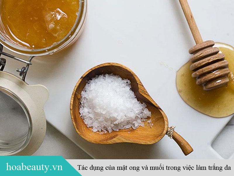 Tác dụng của mật ong và muối trong việc làm trắng da