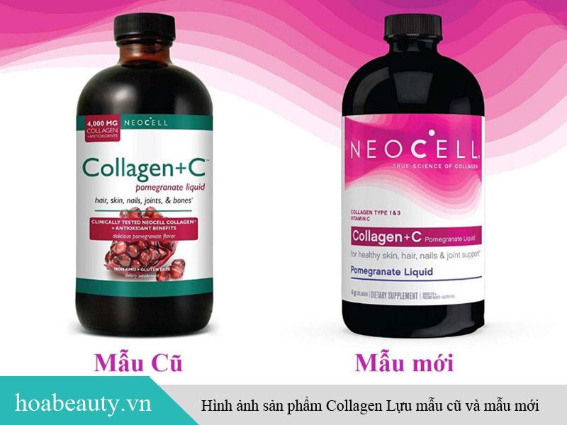 Hình ảnh collagen lựu mẫu cũ và mẫu mới