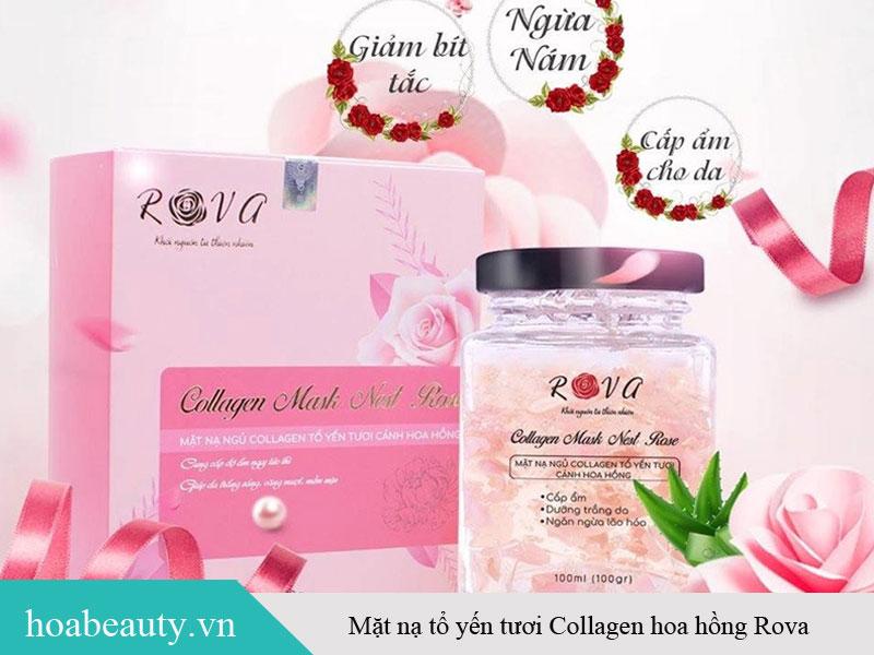 Mặt nạ tổ yến tươi Collagen hoa hồng Rova