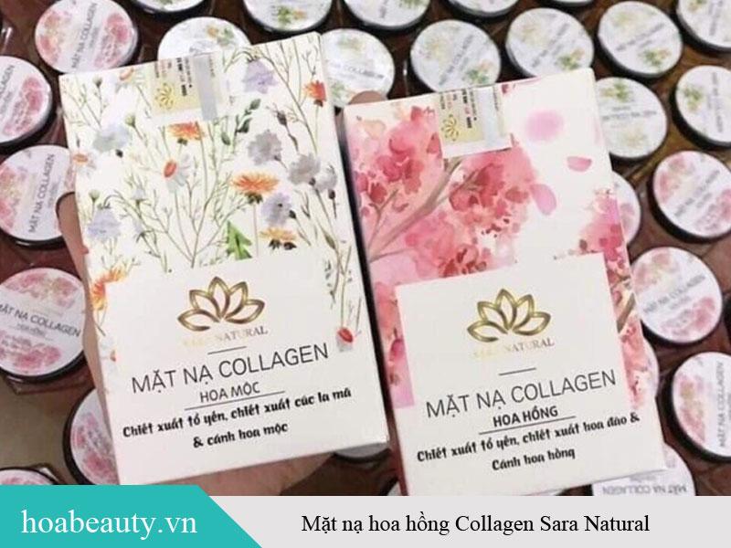 Mặt nạ hoa hồng Collagen Sara Natural