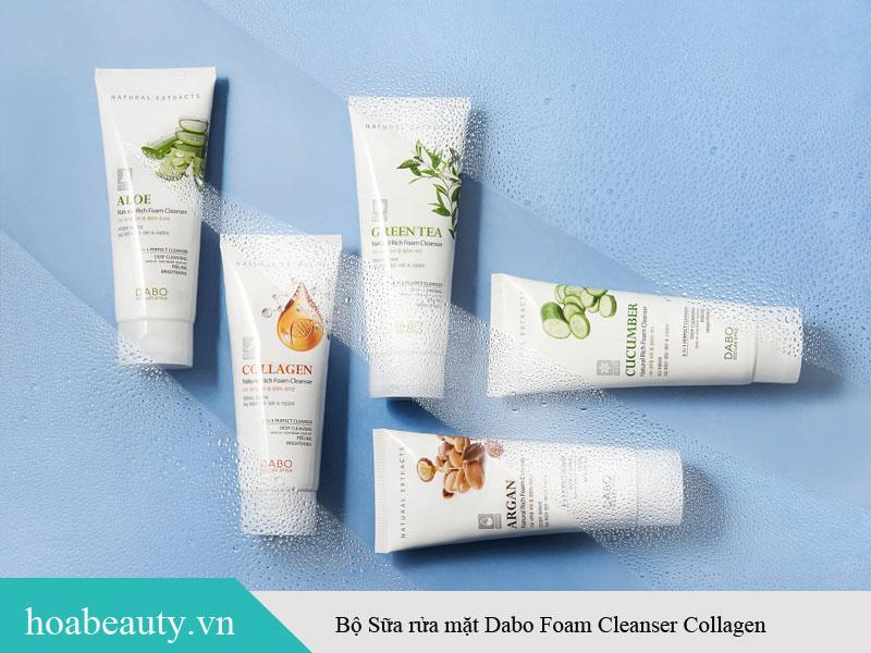 Bộ sữa rửa mặt collagen Dabo Foam Cleanser