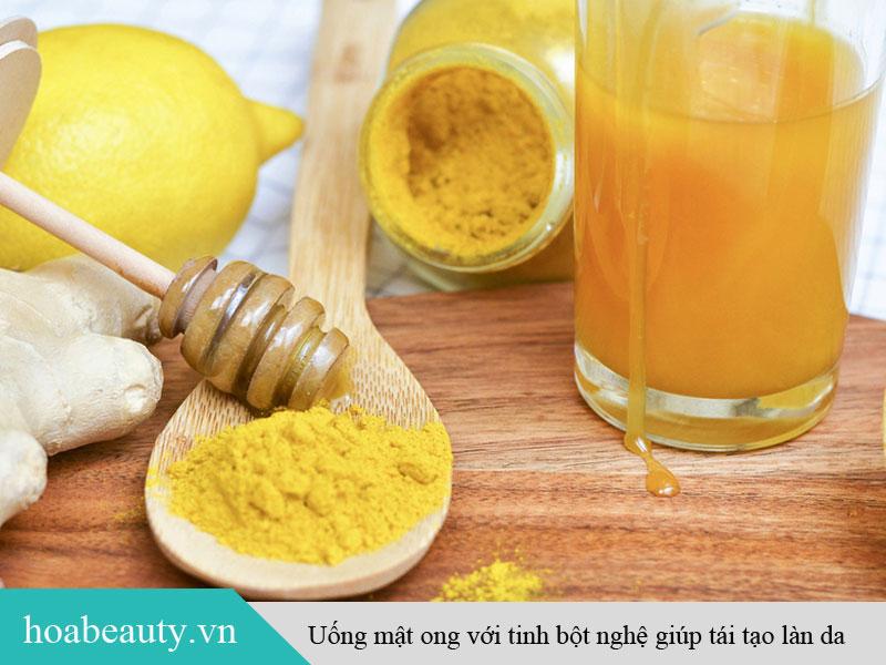 Uống mật ong và nghệ giúp chữa lành thương tổn, tái tạo làn da