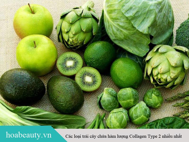 Các loại rau có màu xanh đậm cũng là nguồn cung cấp Collagen Type 2 dồi dào