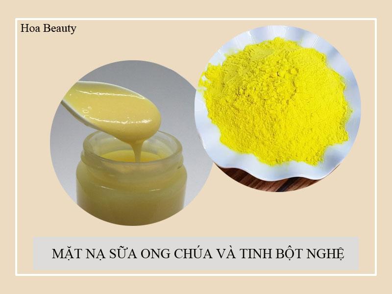 Kết hợp sữa ong chúa với tinh bột nghệ giúp nuôi dưỡng làn da trắng mịn