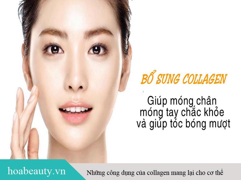 Collagen đảm bảo da săn chắc, tóc móng chắc khoẻ và xương khớp dẻo dai